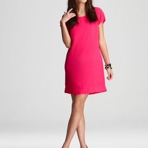 Splendid Hot Pink Shift Dress with Pop Zipper